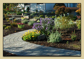 Commercial Project with Landscaping, Hardscapes, and Seasonal Color Rotation